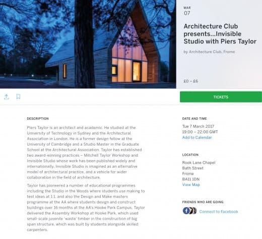 Invisible Studio Architects | architecture club frome